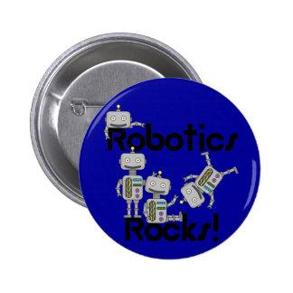 Robotics Rocks Pinback Button