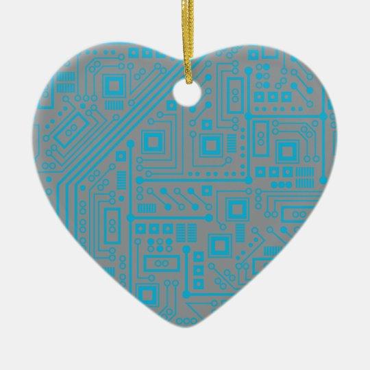 Robotika Circuit Board Ceramic Ornament