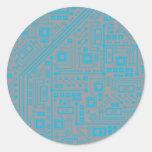 Robotika Circuit Board Classic Round Sticker
