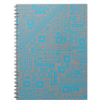 Robotika Circuit Board Spiral Notebook
