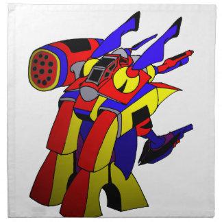 RobotM Echa Crusher 2020 by Dale Wilhelm Printed Napkins