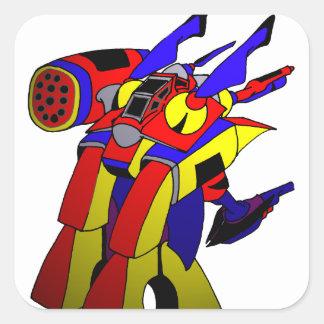 RobotM Echa Crusher 2020 by Dale Wilhelm Square Sticker