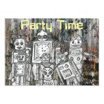 Robots 11 5x7 paper invitation card