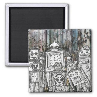 Robots 11 2 inch square magnet