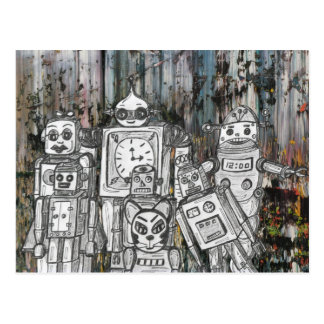 Robots 11 postcard