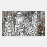 Robots 11 rectangular pegatina