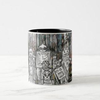 Robots 11 Two-Tone coffee mug