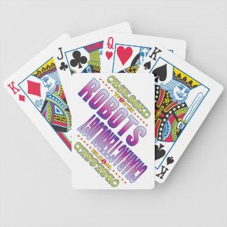 Robots 2 obsesionados baraja cartas de poker