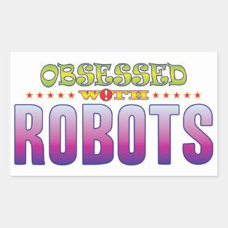 Robots 2 Obsessed Rectangular Sticker