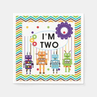 Robots 2nd Birthday Paper Napkins