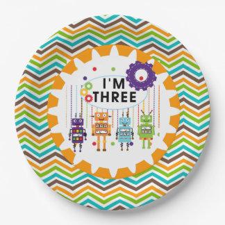Robots 3rd Birthday Paper Plates