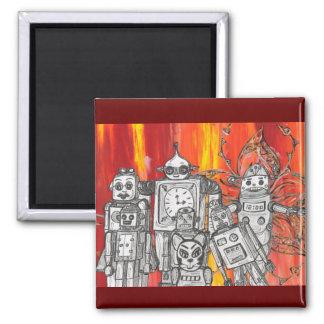 Robots 7 2 inch square magnet