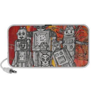 Robots 7 speakers doodle