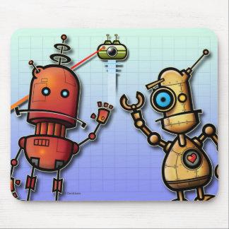 Robots amistosos tapetes de raton