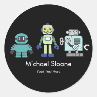 Robots & Androids Children's Birthday Party Classic Round Sticker