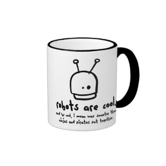 robots are cool1 ringer coffee mug