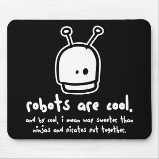 robots are cool2 mouse pad