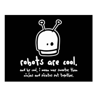 robots are cool2 postcard