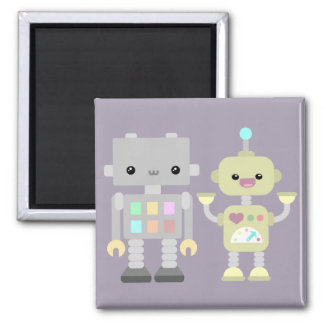 Robots At Play 2 Inch Square Magnet