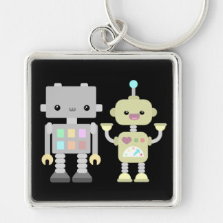 Robots At Play Keychain
