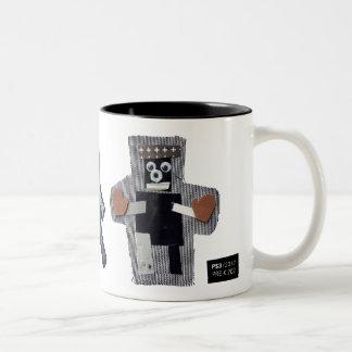 ROBOTS callum, liam, fisher Two-Tone Coffee Mug