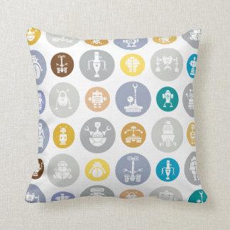 Robots cushion throw pillows