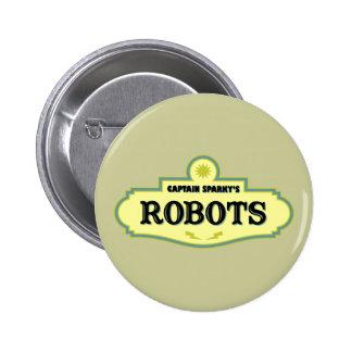 Robots de capitán Sparky's Pin Redondo 5 Cm