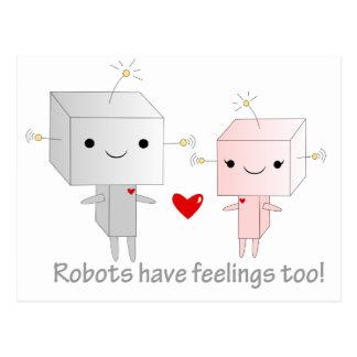 Robots de Kawaii Postales