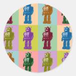 Robots del arte pop pegatina