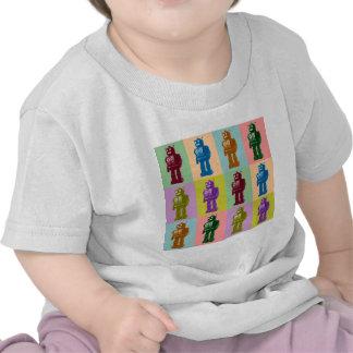 Robots del arte pop camisetas