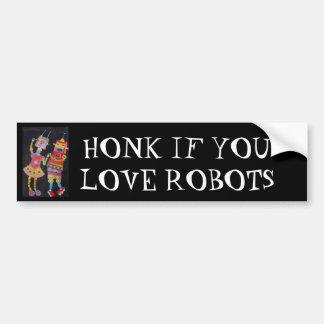 Robots del baile pegatina para auto