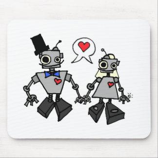 Robots del boda tapetes de ratones