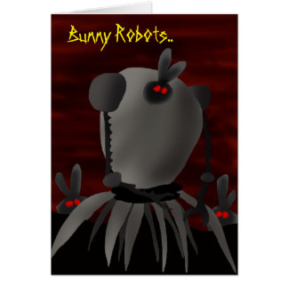 Robots del conejito felicitación