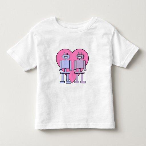 Robots del corazón t shirts