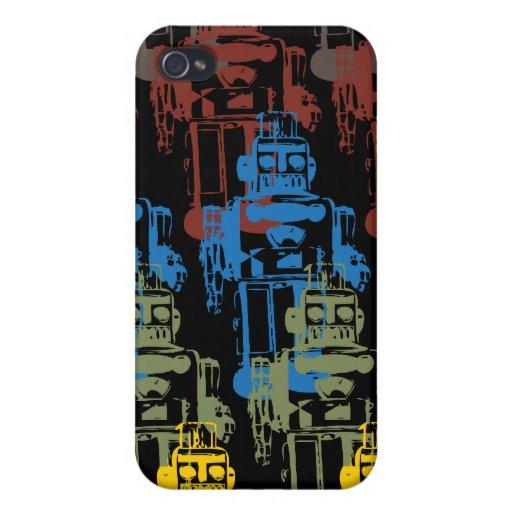 Robots del vintage para su iPhone iPhone 4/4S Carcasas