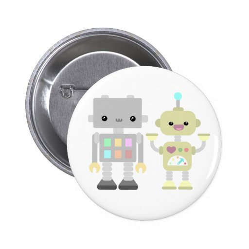 Robots en el juego pin redondo 5 cm