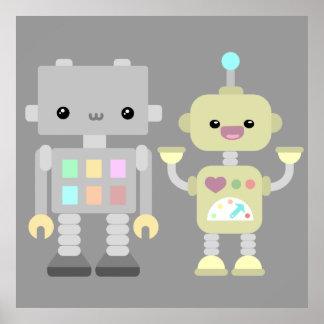 Robots en el juego póster