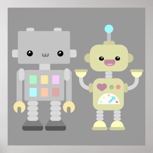 Robots en el juego posters
