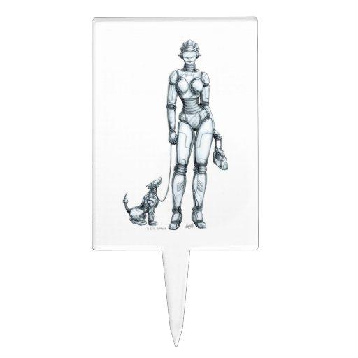 Robots Figura Para Tarta