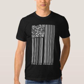 Robots for President (2D + barcode flag) T-shirt