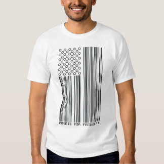 Robots For President (barcode flag) T-shirt
