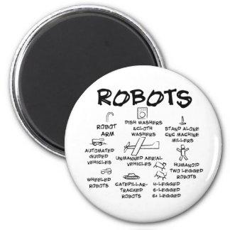 ROBOTS IMÁN REDONDO 5 CM
