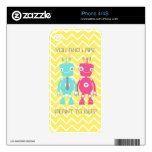 Robots in Love iPhone 4S Decal