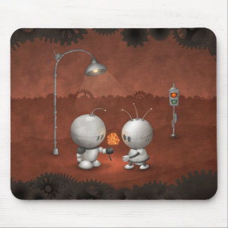 Robots In Love Mouse Pad