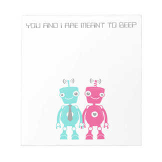 Robots in Love Note Pad