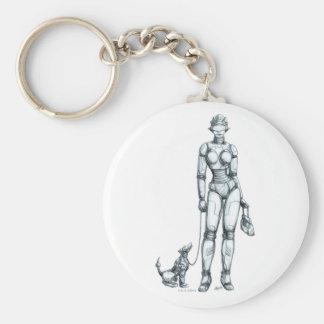 Robots Keychain