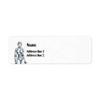 Robots Custom Return Address Label