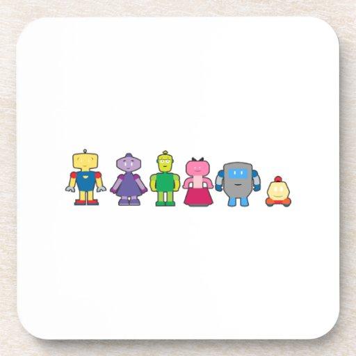 Robots lindos del dibujo animado posavaso