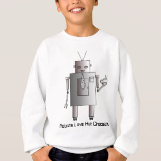 Robots Love Hot Chocolate Retro Vintage Robot Sweatshirt