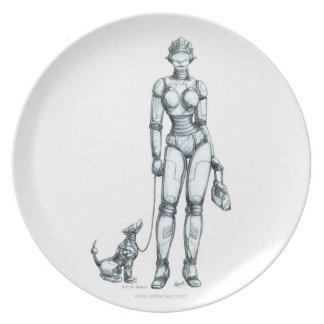 Robots Melamine Plate